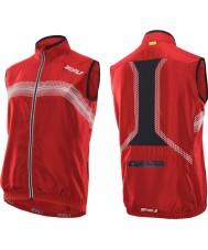 2XU MC2486A-NRD-BLK-S Mens neon vermelho e preto microclima reflector vest - tamanho s