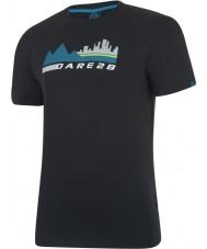 Dare2b T-shirt preto da cena da cidade dos homens