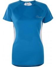 Dare2b DWT336-5NN12L Ladies reforma metil azul t-shirt - o tamanho uk 12 (m)