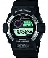 Casio GR-8900-1ER Mens g-shock solar de resina preta alimentado pulseira de relógio