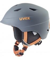 Uvex 5661325803 Airwing pro titânio laranja capacete de esqui - 52-54cm