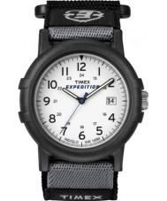 Timex T49713 Mens campista branco preto expedição relógio