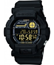 Casio GD-350-1BER relógio preto dos homens g-shock tempo do mundo
