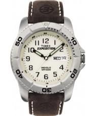 Timex T46681 Mens expedição branco marrom relógio tradicional