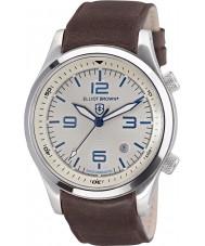 Elliot Brown 202-001-L09 Mens Canford couro marrom pulseira de relógio