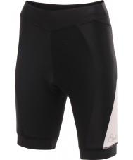 Dare2b DWJ300-8K408L Senhoras satisfazer ciclo shorts brancos pretos - xxs tamanho (8)