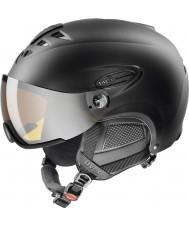 Uvex 5661622205 Hlmt 300 capacete de esqui preto com viseira lasergold - 55-58cm