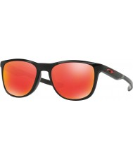 Oakley Oo9340-02 trillbe x preto polido - óculos de rubi de irídio