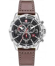 Swiss Military 6-4251-04-007 Mens ace chrono couro marrom pulseira de relógio
