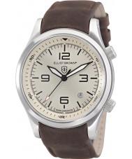 Elliot Brown 202-003-L08 Mens Canford de chocolate couro marrom relógio de pulseira