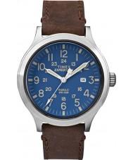 Timex TW4B06400 Mens expedição olheiro de couro marrom relógio de pulseira
