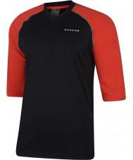 Dare2b Homens marcados com t-shirt vermelho preto e verde